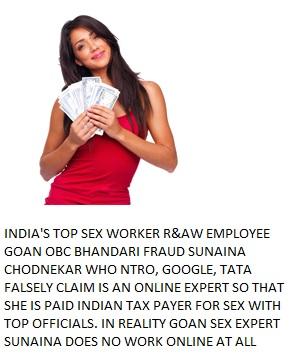 goan sex worker R&AW employee